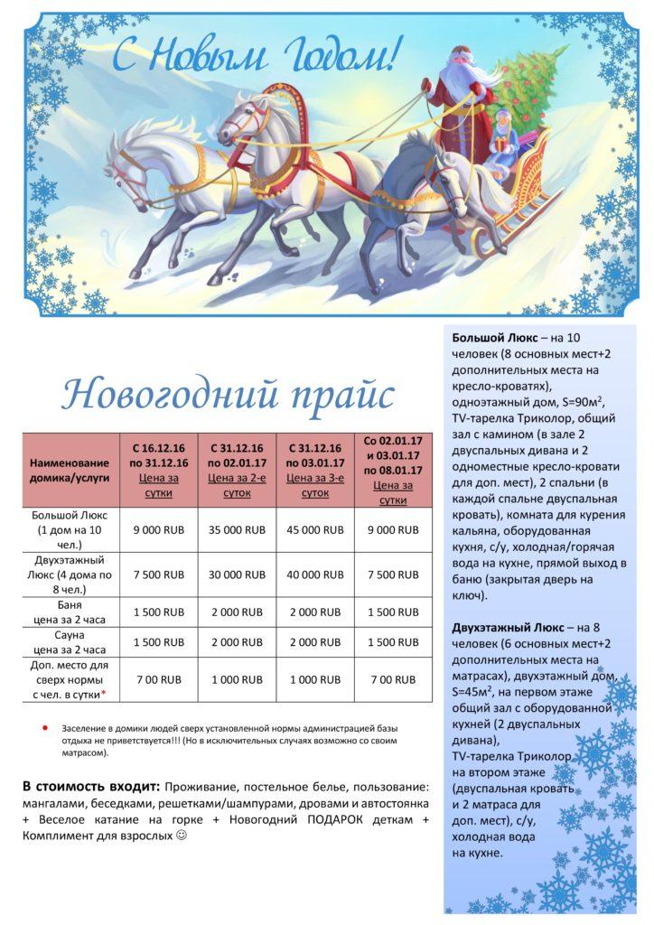 Новогодние и Рождественские цены!